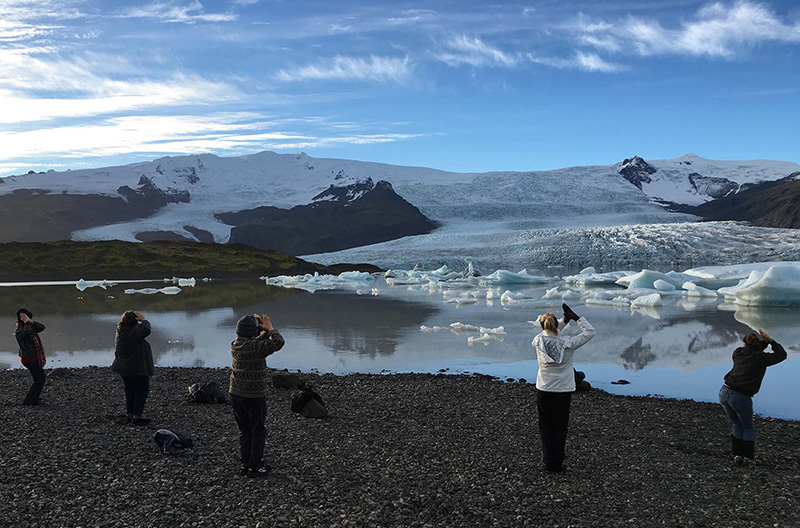 Meditation at Fjallsarlon Glacier lagoon